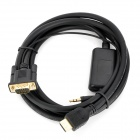 CY HD-097 1080p HDMI to VGA Audio Adapter Cable - Black (1.8m)