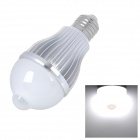 E27 5W 460lm 6500K IR Sensor Motion Activated White 10-SMD 5630 LED Light Bulb - Silver (100~240V)