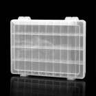 40-Compartment Free Combination Plastic Storage Box for Hardware Tools / Gadgets - Translucent White
