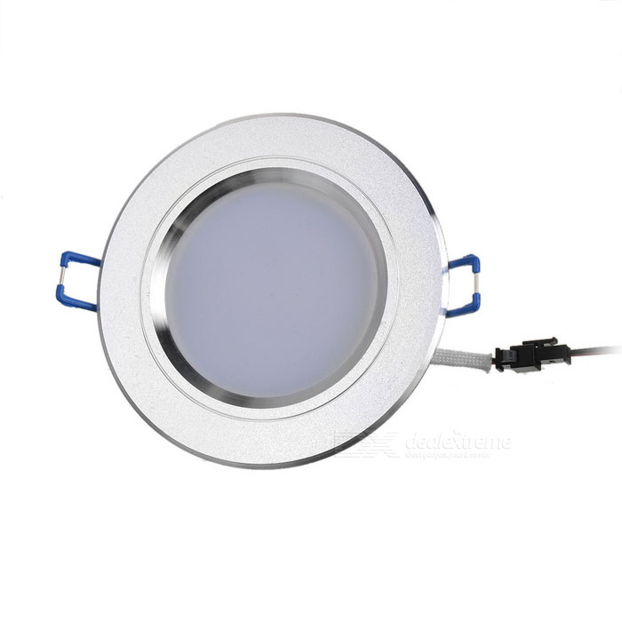 5W 450lm 3500K Warm White LED Ceiling Down Light w/ LED Driver - Silver