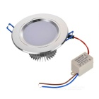 5W 450lm 3500K Warm White LED Ceiling Down Light w/ Driver - Silver