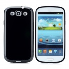 Protective TPU Back Case for Samsung Galaxy S3 i9300 - Black