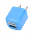 BASEUS DCALL-US03 USB AC Power Charging Adapter for Iphone / Ipad - Blue (2-Flat-Pin Plug)