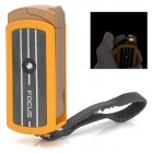FOCUS F059 Rotary Aluminum Alloy + Plastic Windproof Butane Gas Jet Lighter - Golden Rod + Black