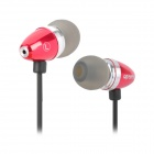Apolok AP-HR096-4 High Fidelity Stereo In-Ear Earphones - Red + Black (3.5mm Plug / 120cm)