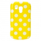 Polka Dot Pattern Protective TPU Back Case for Samsung Galaxy S Duos S7562 - Yellow + White