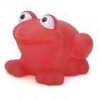 HC021 Cute Color Change Funny Floating Frog Bath Toy for Kids - Red