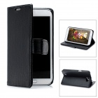 Lychee Pattern Protective PU Leather Case for Samsung Galaxy Note 2 N7100 - Black