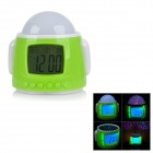 "Robot Style 2.1"" LCD Alarm Clock w/ Music / Colorful Star Projector / Thermometer / Calendar - Green"