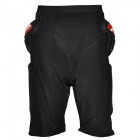 YW-095 Motorcycle Bicycle Hip Protector Pads Pants - Black + Red (Size XXL)