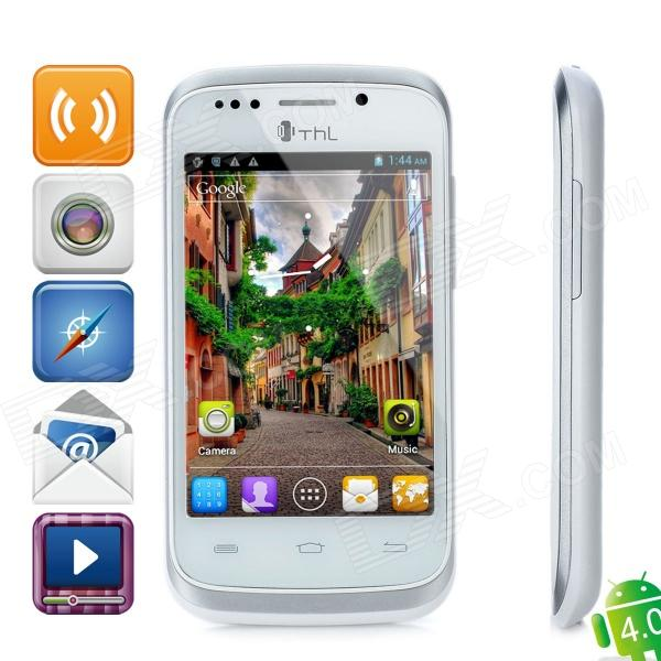 """THL A1 Android 4.0 GSM Smartphone w / 3,5 """"kapazitiven Bildschirm, Quad-Band, Wi-Fi-und Dual-SIM - White"""