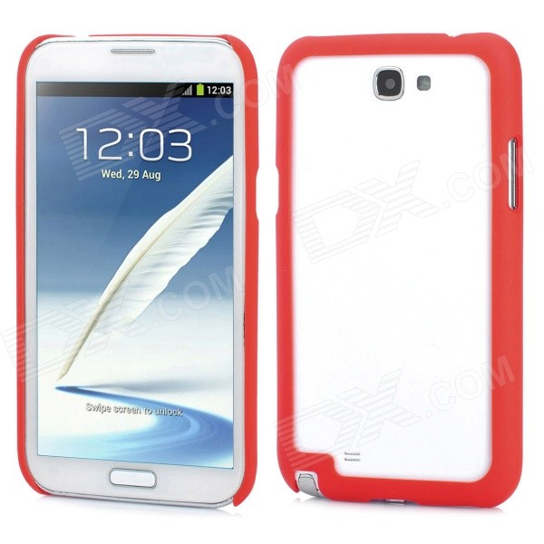 Protective Plastic Bumper Frame for Samsung Galaxy Note II N7100 - Red