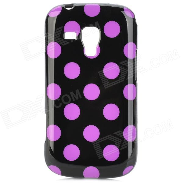 Polka Dot Pattern Protective TPU Back Case for Samsung Galaxy S Duos S7562 - Black + Purple