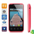 "B3000 Android 4.0 GSM Bar Phone w/ 3.5"" Capacitive Screen, Quad-Band, Wi-Fi, TV and Dual-SIM - Red"