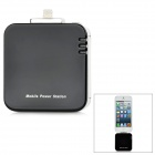 Portable USB 8-Pin Lightning 1800mAh External Power Bank for iPhone 5 - Black + Silver