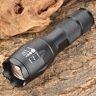 LX-T6 Cree XM-L T6 680lm 3-Mode White Light Zooming Flashlight - Black (1 x 18650 or 3 x AAA)