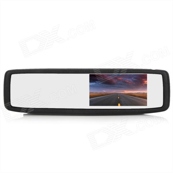 RV-431S 4.3 TFT LCD Car Vehicle Rearview Mirror Set - Black