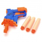 Manual Launch Outdoor Indoor Sponge Ball Gun Toy for Kids - Blue + Orange