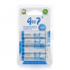Rechargeable Replacement 1.2V 3000mAh AA NiMH Batteries Set - White + Blue (4 PCS)