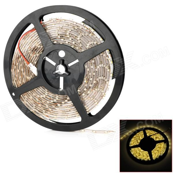 24W 1800lm 300-3528 SMD LED Warm White Light Waterproof Flexible Strip Lamp (5m / 12V) jr smd3528 60 w 24w 6500k 1200lm 300 smd 3528 led white flexible lamp strip 12v 5m