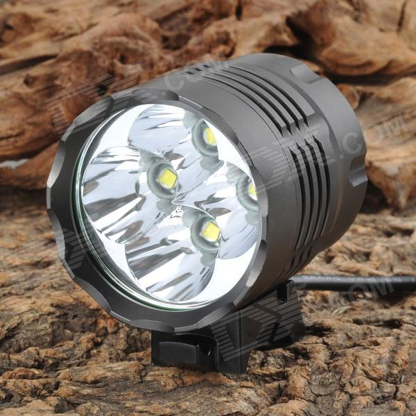 UltraFire 2600lm 3-Mode White Bicycle Headlamp - Metal Grey (4 x 18650)