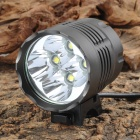 UltraFire 4 x Cree XM-L T6 2600lm 3-Mode White Bicycle Headlamp - Metal Grey (4 x 18650)