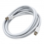 CY DP-014 Mini DisplayPort Male to Male Data Cable - White (1.8m)