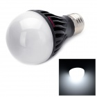 E5-Lighting E27 6W 600lm 6500K 15-LED A19 Cool White Graphite Bulb - Black + White