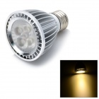 E5-Lighting E27 4W 340lm 3500K 4-LED Spot Warm White Bulb - Silver