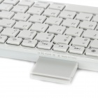 Portable Wireless Bluetooth V3.0 82-Key Keyboard w/ Retractable Stand for Ipad / Iphone - White