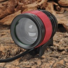 UltraFire Cree XM-L T6 800lm 4-Mode White Zooming Bicycle Headlamp - Black + Red (4 x 18650)