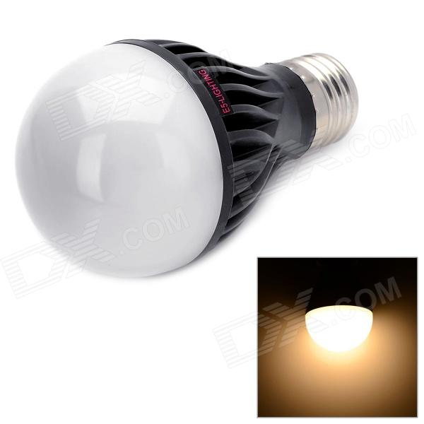 E5-Lighting E27 6W 600lm 3500K 15-LED A19 Warm White Graphite Bulb - Black + White