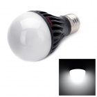 E5-Lighting E27 8W 750lm 6500K 15-LED A19 Cool White Graphite Bulb - Black + White