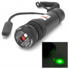 Aluminum Alloy 20mm Rail 5mW Green Laser Sight - Black (1 x CR123A)