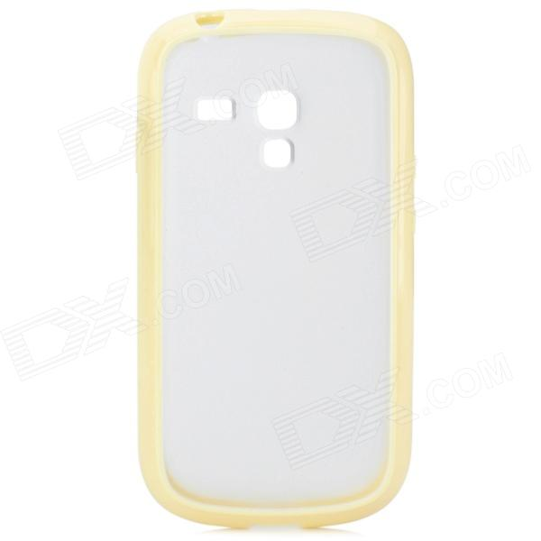 Stylish Protective Back Case for Samsung i8190 Galaxy S3 Mini - Yellow + Translucent stylish protective back case for samsung i8190 galaxy s3 mini yellow translucent