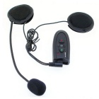 Handsfree Bluetooth V2.0 Intercom w/ FM for Motorcycle Helmet - Black (5-Hour Talk/100M)