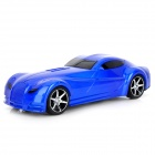 "Mini Car Model Style 0.8"" Screen Dual Channel Media Player Speaker w/ TF / FM - Blue + Black"