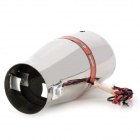 3031 Car Decoration Exhaust Pipe with 8-LED Red / Blue Light - Silver