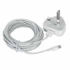 AC Powered Charger + USB 8-Pin Lightning Data / Charging Cable for iPhone 5 - White (UK Plug)