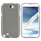 Protective TPU + PVC Back Pudding Case Set for Samsung Galaxy Note II N7100 - Transparent Grey