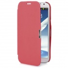 Protective PU Leather Case for Samsung Galaxy Note II N7100 - Red