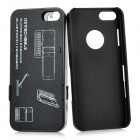 Thickening Slide-out Standing Bluetooth V3.0 51-Key Keyboard Hard Case for Iphone 5 - Black + Silver