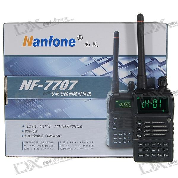 Nanfone NF-7707 5W 10KM Rechargeable 1.5 LCD Walkie Talkie with Charging Dock (400~470MHz)