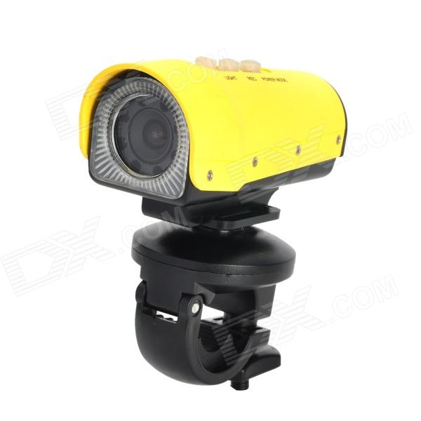Codisk S1080 HD 5.0 ​​MP Wide Angle Sports Waterproof Mergulho Camera w / TF / Mini USB / AV - Amarelo