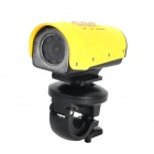 Codisk S1080 HD 5.0 MP Wide Angle Waterproof Sports Diving Camera w/ TF/ Mini USB / AV - Yellow