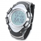 Spovan Blade-I-A Multi-Function Waterproof Sport Digital Wrist Watch - Black + Silver (1 x CR2025)