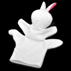 Cute Rabbit Animal Shaped Soft Cloth Hand Puppet - White + Pink