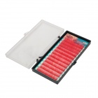Stars Colors A-1003-3 False Eyelashes for Beauty Makeup - Red (12 PCS)
