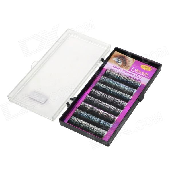Stars Colors A-1103 Beautiful Cosmetic Eyelash Set - Black