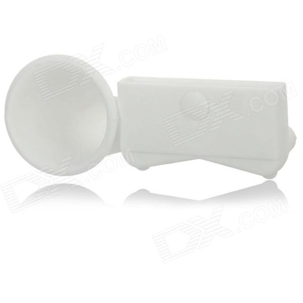 Silicone Horn Stand Audio Amplifier for Iphone 5 - White